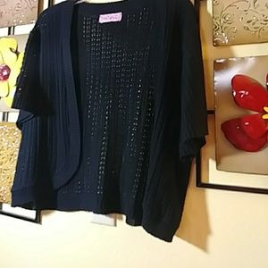 Black knitted sweater shrug XL